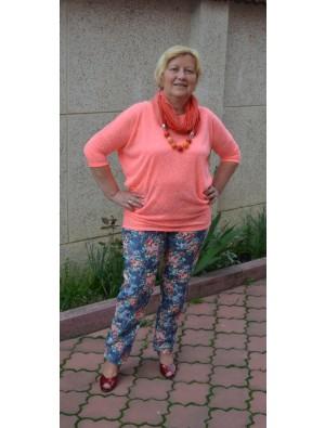 Pantaloni cu model floral