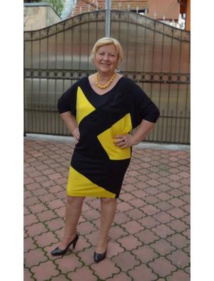 Rochie negru cu galben